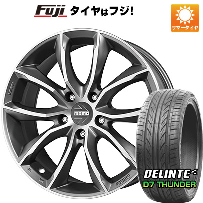 タイヤはフジ 送料無料 MOMO モモ スクリームジェットEVO 8J 8.00-18 DELINTE デリンテ D7 サンダー(限定) 235/40R18 18インチ サマータイヤ ホイール4本セット