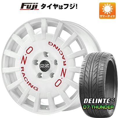 タイヤはフジ 送料無料 OZ ラリーレーシング 8J 8.00-18 DELINTE デリンテ D7 サンダー(限定) 235/40R18 18インチ サマータイヤ ホイール4本セット