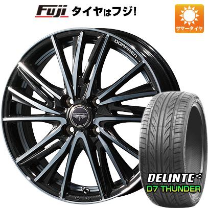タイヤはフジ 送料無料 TOPY トピー ドルフレン ビゲープ 6.5J 6.50-17 DELINTE デリンテ D7 サンダー(限定) 205/50R17 17インチ サマータイヤ ホイール4本セット