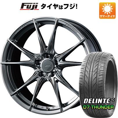 古典 タイヤはフジ 送料無料 WEDS ウェッズ F-ZERO FZ-2 8.5J 8.50-20 DELINTE デリンテ D7 サンダー(限定) 225/35R20 20インチ サマータイヤ ホイール4本セット, アルファゴー 044001f1