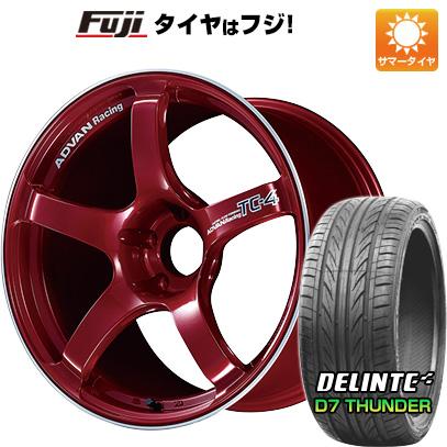 【送料無料】 235/40R18 18インチ YOKOHAMA ヨコハマ アドバンレーシング TC4 8.5J 8.50-18 DELINTE デリンテ D7 サンダー(限定) サマータイヤ ホイール4本セット