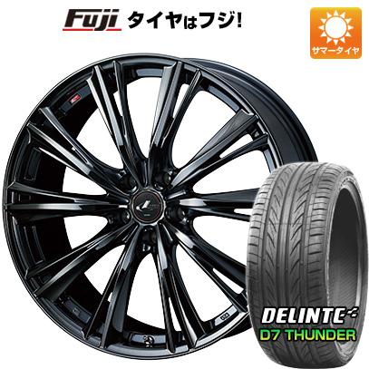 【送料無料】 255/45R20 20インチ WEDS レオニス WX 8.5J 8.50-20 DELINTE デリンテ D7 サンダー(限定) サマータイヤ ホイール4本セット