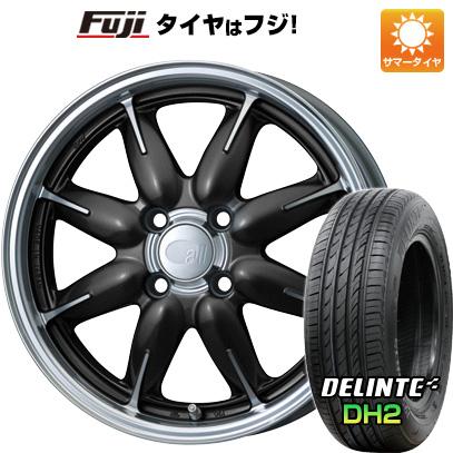 タイヤはフジ 送料無料 ENKEI エンケイ allシリーズ オールワン 5J 5.00-14 DELINTE デリンテ DH2(限定) 155/65R14 14インチ サマータイヤ ホイール4本セット