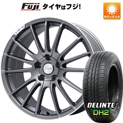 タイヤはフジ 送料無料 LEHRMEISTER LM-S トレント15 (マットグラファイト/リムポリッシュ) 7J 7.00-17 DELINTE デリンテ DH2(限定) 215/50R17 17インチ サマータイヤ ホイール4本セット
