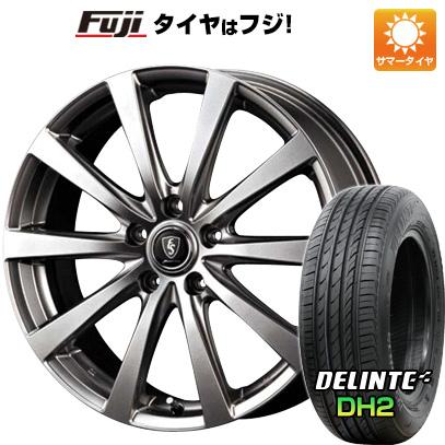 タイヤはフジ 送料無料 MID ユーロスピード G10 8J 8.00-18 DELINTE デリンテ DH2(限定) 235/50R18 18インチ サマータイヤ ホイール4本セット