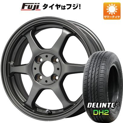 タイヤはフジ 送料無料 LEHRMEISTER リアルスポーツ カリスマVS6 5J 5.00-15 DELINTE デリンテ DH2(限定) 165/50R15 15インチ サマータイヤ ホイール4本セット