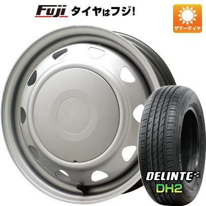 タイヤはフジ 送料無料 ELBE エルベ オリジナル スチール 5.5J 5.50-15 DELINTE デリンテ DH2(限定) 175/65R15 15インチ サマータイヤ ホイール4本セット
