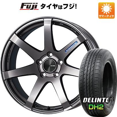 タイヤはフジ 送料無料 ENKEI エンケイ PF07 6J 6.00-15 DELINTE デリンテ DH2(限定) 185/60R15 15インチ サマータイヤ ホイール4本セット