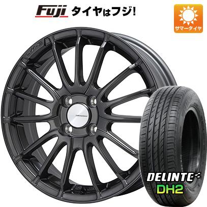 タイヤはフジ 送料無料 LEHRMEISTER LM-S トレント15 (ガンメタブラッククリア) 5J 5.00-15 DELINTE デリンテ DH2(限定) 165/55R15 15インチ サマータイヤ ホイール4本セット