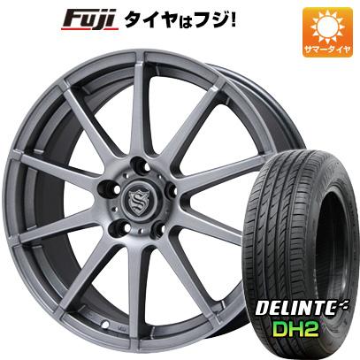 タイヤはフジ 送料無料 BRANDLE ブランドル 562 7.5J 7.50-18 DELINTE デリンテ DH2(限定) 225/55R18 18インチ サマータイヤ ホイール4本セット