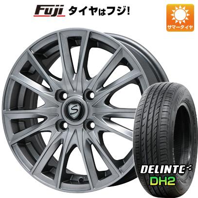 タイヤはフジ 送料無料 BRANDLE ブランドル 485 5.5J 5.50-14 DELINTE デリンテ DH2(限定) 175/65R14 14インチ サマータイヤ ホイール4本セット
