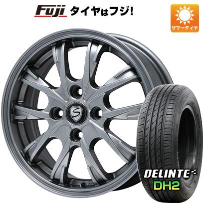 タイヤはフジ 送料無料 BRANDLE ブランドル 486 5.5J 5.50-15 DELINTE デリンテ DH2(限定) 175/65R15 15インチ サマータイヤ ホイール4本セット