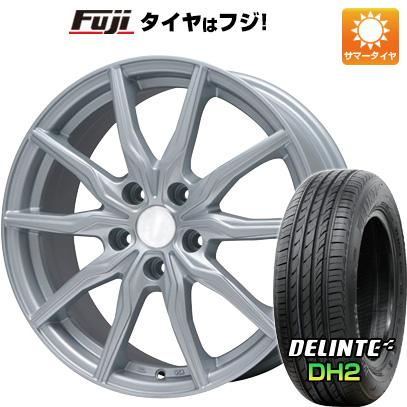 タイヤはフジ 送料無料 BRANDLE ブランドル 008 7.5J 7.50-18 DELINTE デリンテ DH2(限定) 225/55R18 18インチ サマータイヤ ホイール4本セット