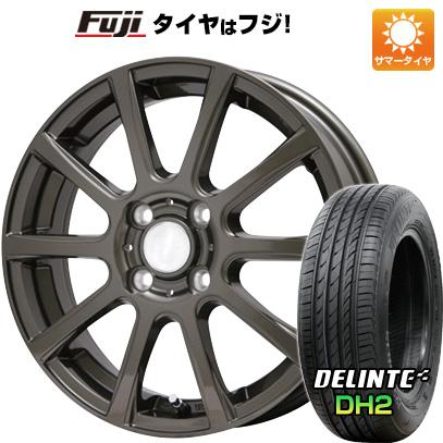 タイヤはフジ 送料無料 BRANDLE ブランドル 565Z 4.5J 4.50-15 DELINTE デリンテ DH2(限定) 165/50R15 15インチ サマータイヤ ホイール4本セット