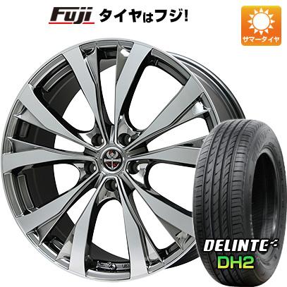 タイヤはフジ 送料無料 PREMIX プレミックス サッシカイア(BMCポリッシュ) 7J 7.00-18 DELINTE デリンテ DH2(限定) 225/50R18 18インチ サマータイヤ ホイール4本セット