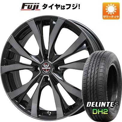 タイヤはフジ 送料無料 PREMIX プレミックス サッシカイア(ブラッククリア) 5.5J 5.50-17 DELINTE デリンテ DH2(限定) 165/40R17 17インチ サマータイヤ ホイール4本セット