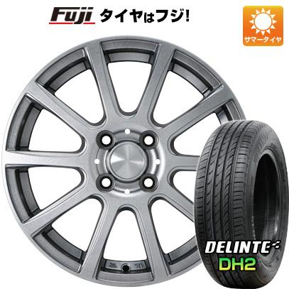 タイヤはフジ 送料無料 カジュアルセット タイプB17 メタリックグレー 4.5J 4.50-15 DELINTE デリンテ DH2(限定) 165/50R15 15インチ サマータイヤ ホイール4本セット