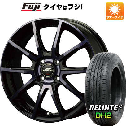 タイヤはフジ 送料無料 MID シュナイダー DR-01 4.5J 4.50-14 DELINTE デリンテ DH2(限定) 155/65R14 14インチ サマータイヤ ホイール4本セット