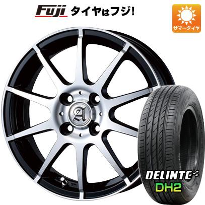タイヤはフジ 送料無料 TECHNOPIA テクノピア アドニス HSR 4.5J 4.50-15 DELINTE デリンテ DH2(限定) 165/50R15 15インチ サマータイヤ ホイール4本セット