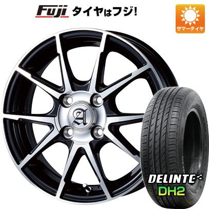 タイヤはフジ 送料無料 TECHNOPIA テクノピア アドニス JXS 5.5J 5.50-14 DELINTE デリンテ DH2(限定) 185/65R14 14インチ サマータイヤ ホイール4本セット