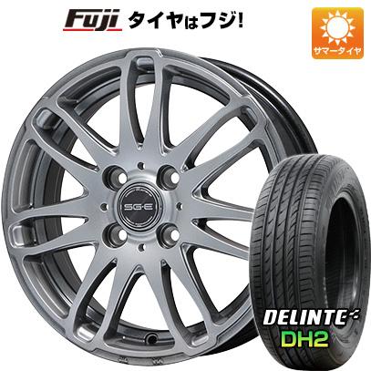 タイヤはフジ 送料無料 BRANDLE ブランドル G72 5.5J 5.50-14 DELINTE デリンテ DH2(限定) 185/65R14 14インチ サマータイヤ ホイール4本セット