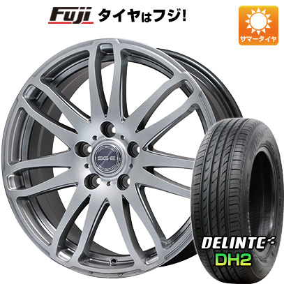 タイヤはフジ 送料無料 BRANDLE ブランドル G72 7.5J 7.50-18 DELINTE デリンテ DH2(限定) 225/55R18 18インチ サマータイヤ ホイール4本セット
