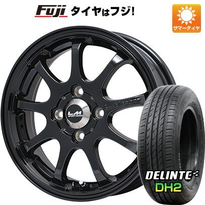 タイヤはフジ 送料無料 LEHRMEISTER レアマイスター LMスポーツファイナル(グロスブラック) 6J 6.00-15 DELINTE デリンテ DH2(限定) 185/60R15 15インチ サマータイヤ ホイール4本セット
