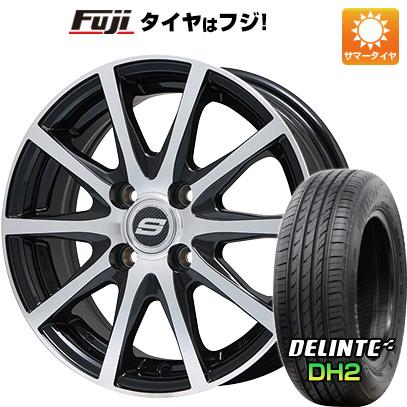 タイヤはフジ 送料無料 BRANDLE ブランドル M71BP 5.5J 5.50-14 DELINTE デリンテ DH2(限定) 175/65R14 14インチ サマータイヤ ホイール4本セット