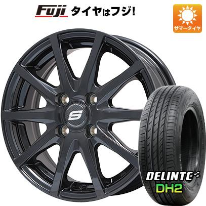 タイヤはフジ 送料無料 BRANDLE ブランドル M71B 5.5J 5.50-15 DELINTE デリンテ DH2(限定) 185/65R15 15インチ サマータイヤ ホイール4本セット