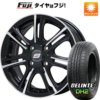タイヤはフジ 送料無料 BRANDLE ブランドル M68BP 5.5J 5.50-14 DELINTE デリンテ DH2(限定) 175/65R14 14インチ サマータイヤ ホイール4本セット