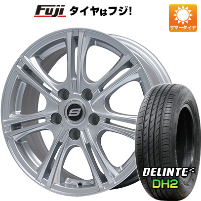 タイヤはフジ 送料無料 BRANDLE ブランドル M68 6J 6.00-15 DELINTE デリンテ DH2(限定) 205/65R15 15インチ サマータイヤ ホイール4本セット