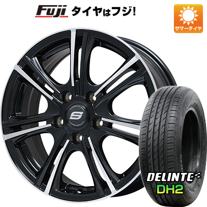タイヤはフジ 送料無料 BRANDLE ブランドル M68BP 7.5J 7.50-18 DELINTE デリンテ DH2(限定) 225/50R18 18インチ サマータイヤ ホイール4本セット