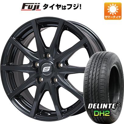 タイヤはフジ 送料無料 BRANDLE ブランドル M71B 6J 6.00-16 DELINTE デリンテ DH2(限定) 195/55R16 16インチ サマータイヤ ホイール4本セット