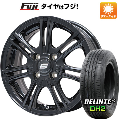 タイヤはフジ 送料無料 BRANDLE ブランドル M68B 4.5J 4.50-15 DELINTE デリンテ DH2(限定) 165/55R15 15インチ サマータイヤ ホイール4本セット