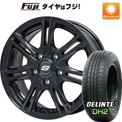 タイヤはフジ 送料無料 フリード 5穴/114 BRANDLE ブランドル M68B 5.5J 5.50-15 DELINTE デリンテ DH2(限定) 185/65R15 15インチ サマータイヤ ホイール4本セット