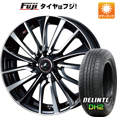 タイヤはフジ 送料無料 WEDS ウェッズ レオニス VT 4.5J 4.50-14 DELINTE デリンテ DH2(限定) 155/65R14 14インチ サマータイヤ ホイール4本セット