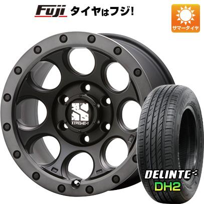 タイヤはフジ 送料無料 MLJ エクストリームJ XJ03 8J 8.00-18 DELINTE デリンテ DH2(限定) 225/55R18 18インチ サマータイヤ ホイール4本セット