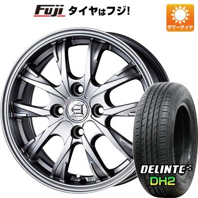 タイヤはフジ 送料無料 TECHNOPIA テクノピア アフロディーテ GX 5.5J 5.50-14 DELINTE デリンテ DH2(限定) 175/65R14 14インチ サマータイヤ ホイール4本セット