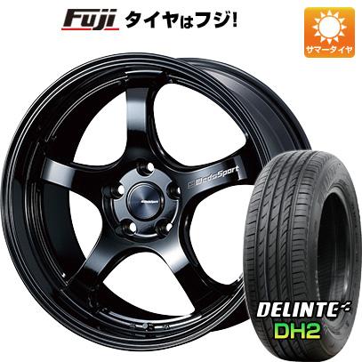 タイヤはフジ 送料無料 WEDS ウェッズスポーツ RN-05M 7.5J 7.50-18 DELINTE デリンテ DH2(限定) 225/45R18 18インチ サマータイヤ ホイール4本セット