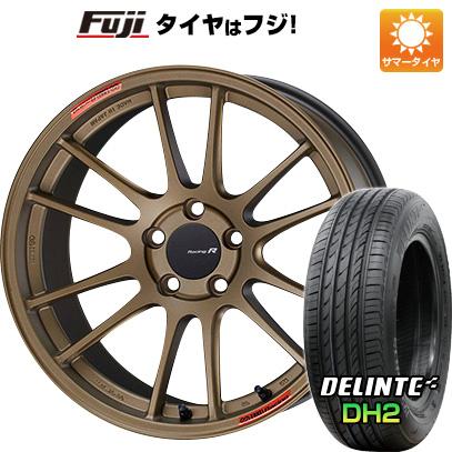 タイヤはフジ 送料無料 ENKEI エンケイ GTC01 RR チタニウムゴールド 7.5J 7.50-18 DELINTE デリンテ DH2(限定) 225/45R18 18インチ サマータイヤ ホイール4本セット