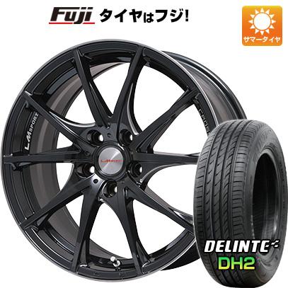 タイヤはフジ 送料無料 LEHRMEISTER レアマイスター LMスポーツクロス10 マシニングブラッククリア 7.5J 7.50-17 DELINTE デリンテ DH2(限定) 215/50R17 17インチ サマータイヤ ホイール4本セット
