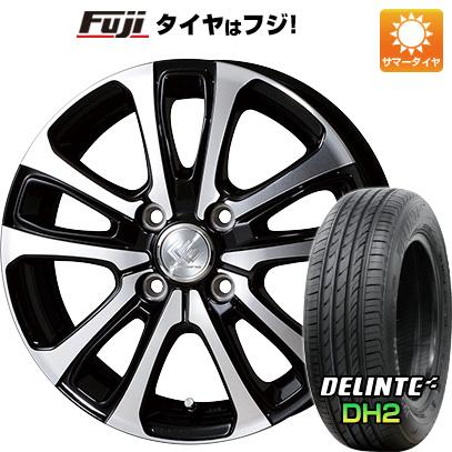 タイヤはフジ 送料無料 TOPY トピー セレブロ LF5 4.5J 4.50-14 DELINTE デリンテ DH2(限定) 155/65R14 14インチ サマータイヤ ホイール4本セット