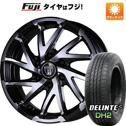 タイヤはフジ 送料無料 NV350キャラバン CRIMSON クリムソン バルベロ ダイナミック ツイスト 6.5J 6.50-18 DELINTE デリンテ DH2(限定) 225/50R18 18インチ サマータイヤ ホイール4本セット
