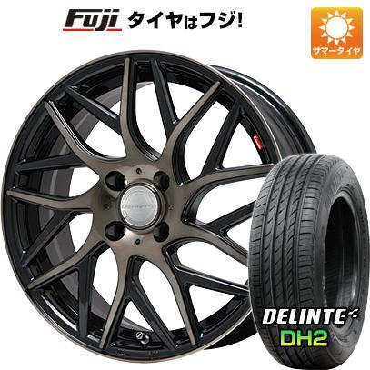 タイヤはフジ 送料無料 LEHRMEISTER レアマイスター キャンティ(ブロンズクリア) 6.5J 6.50-16 DELINTE デリンテ DH2(限定) 195/55R16 16インチ サマータイヤ ホイール4本セット