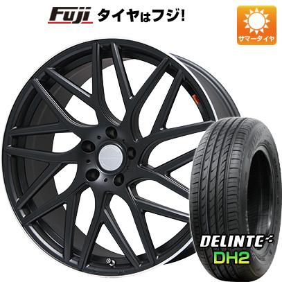タイヤはフジ 送料無料 LEHRMEISTER レアマイスター キャンティ(マットブラック/リムポリッシュ) 7J 7.00-18 DELINTE デリンテ DH2(限定) 225/55R18 18インチ サマータイヤ ホイール4本セット