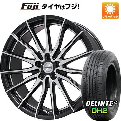 タイヤはフジ 送料無料 LEHRMEISTER レアマイスター インペリア(ブラックメタリックカットクリア) 8.5J 8.50-21 DELINTE デリンテ DH2(限定) 245/35R21 21インチ サマータイヤ ホイール4本セット
