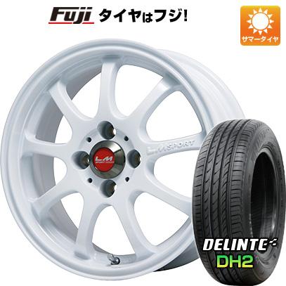 タイヤはフジ 送料無料 LEHRMEISTER レアマイスター LMスポーツファイナル(ホワイト) 5J 5.00-16 DELINTE デリンテ DH2(限定) 165/45R16 16インチ サマータイヤ ホイール4本セット