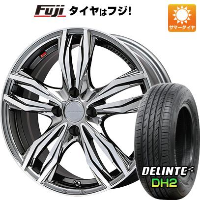 タイヤはフジ 送料無料 LEHRMEISTER レアマイスター ヴィヴァン(BMCポリッシュ) 6.5J 6.50-16 DELINTE デリンテ DH2(限定) 205/50R16 16インチ サマータイヤ ホイール4本セット