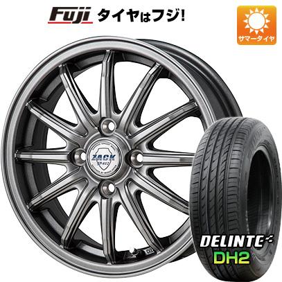 タイヤはフジ 送料無料 MONZA モンツァ ZACK JP-812 5.5J 5.50-15 DELINTE デリンテ DH2(限定) 185/60R15 15インチ サマータイヤ ホイール4本セット