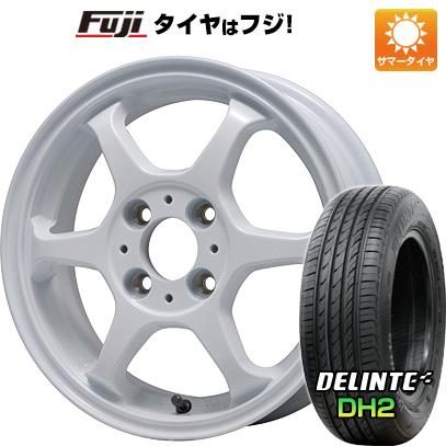 タイヤはフジ 送料無料 LEHRMEISTER リアルスポーツ カリスマVS6 4.5J 4.50-15 DELINTE デリンテ DH2(限定) 165/50R15 15インチ サマータイヤ ホイール4本セット